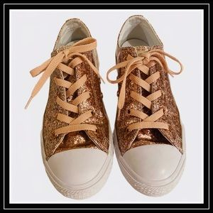CONVERSE PINK GLITTER SNEAKERS EXCELLENT